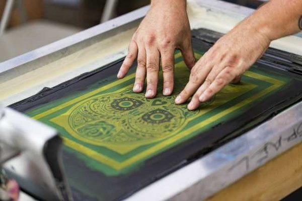 as colour screenprinting tshirt